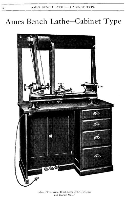 Ames Cabinet Lathe