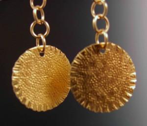 """brass """"coin"""" earrings"""