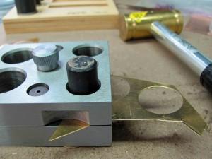 cutter hammerd through the metal