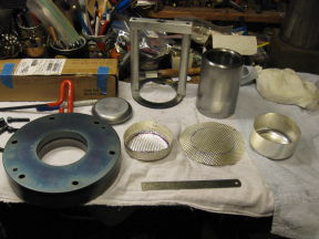deep draw tools, with partially drawn silver
