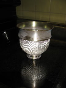 The heat of the oven hardened the silver, but also discolored the Argentium Sterling where it had been abraded during the clean-up after soldering.