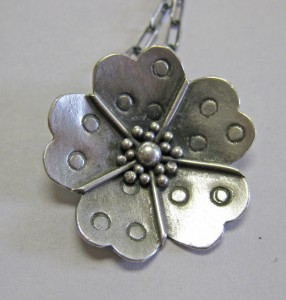 Anna Bouzyk-Argentium Silver pendant-fused, soldered, and stamped