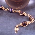 Wire Art Bracelet with Lapis Lazuli