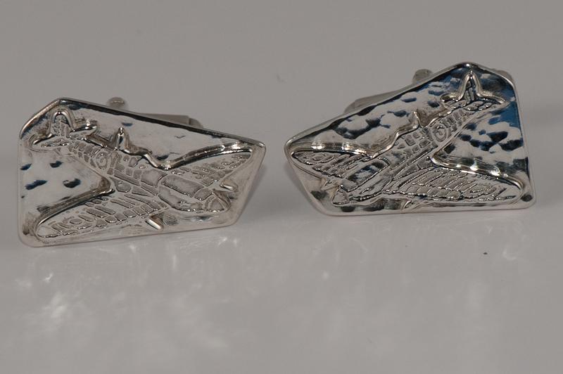 """Argentium sterling """"Spitfire cufflinks"""