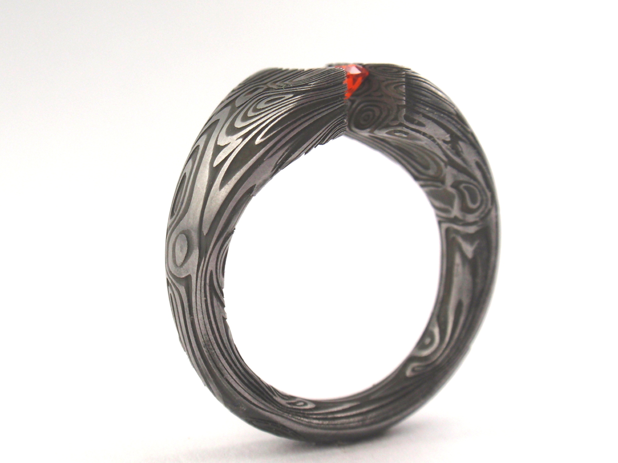 Damascus Tension Set ring Jewelry By Johan Rust