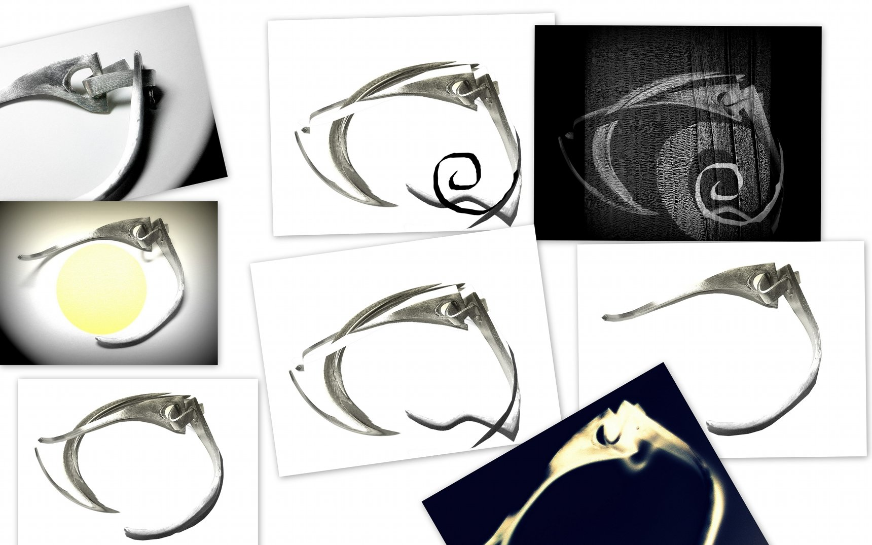 NonConventional Metal Jewelry Jewelry created using non