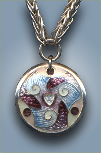 enamel triskele pendant