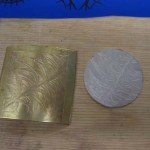 Brass Plate and Rolled Silver