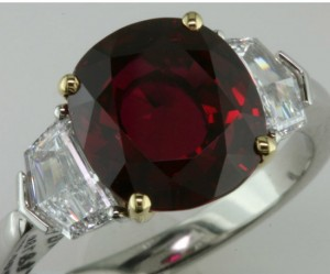 Fabulous 6 ct Thai ruby ring, Bayco
