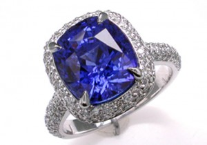 Magnificent 7.50 ct. Ceylon Sapphire in Custom Ring