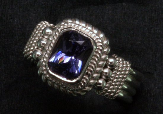 1.30 ct. Blue-Violet Spinel in Silver