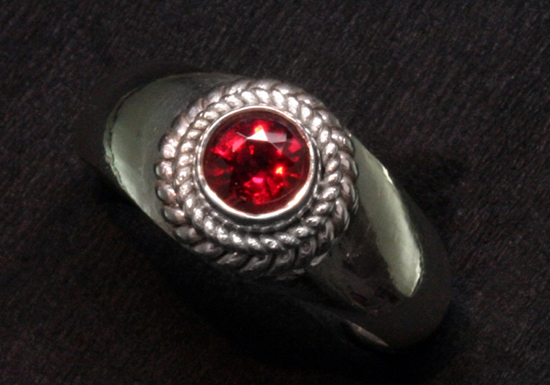 .47 ct Red Spinel in Silver