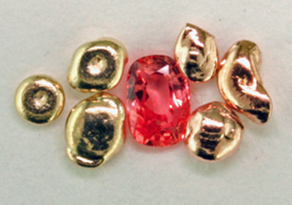 Peach gold, Padparadscha, Rose gold