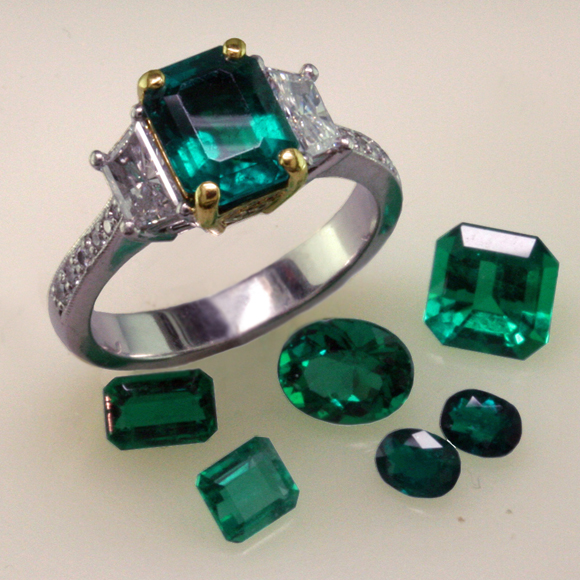 Fine Emeralds from Colom bia and Zambia