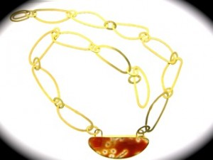 Gold and Jasper necklace, Wendy Jo New