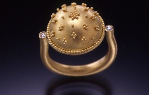 granulated dome ring copy