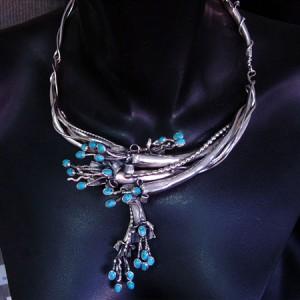 "Sterling necklace ""Floral"""