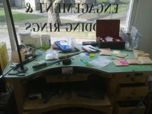 my bench (messy)