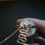 7: Silver wire after multiple bends