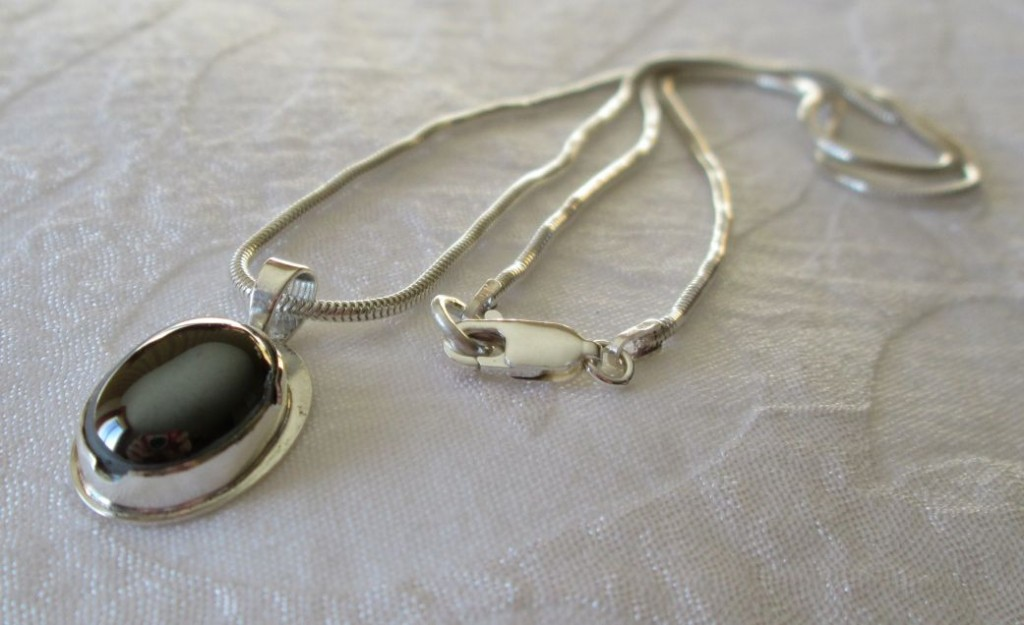 Silver Hematite Pendant with Silver Chain