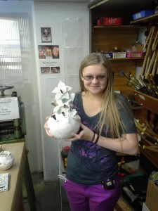 Nikki with finished piece