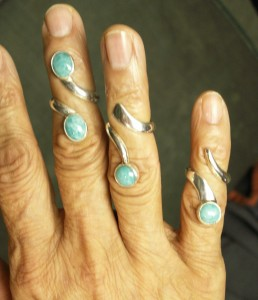 ss amazonite rings 3 on hand