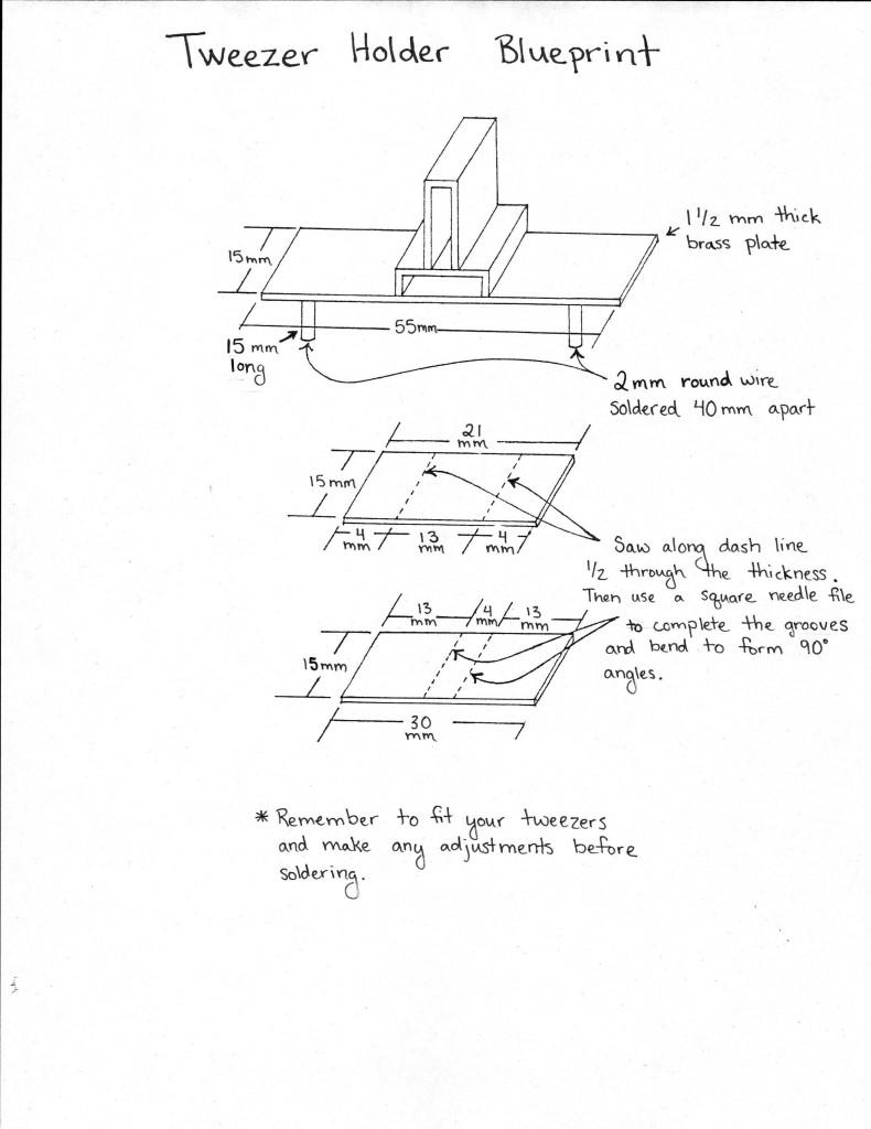 Tweezer holder blueprint