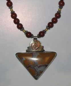 Stone Canyon Jasper, sterling silver, copper, jasper, glass