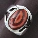 ring with banded agate